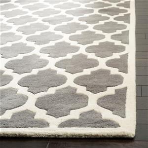 Chatham Trellis Rug - 8.8' x 12' - Wool - Dark Gray