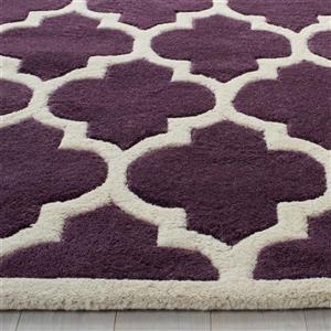 Chatham Trellis Rug - 8.8' x 12' - Wool - Purple