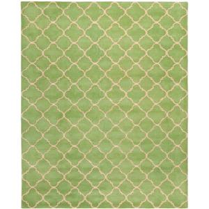 Chatham Trellis Rug - 8.8' x 12' - Wool - Green