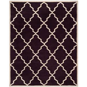 Chatham Trellis Rug - 8.8' x 12' - Wool - Dark Purple
