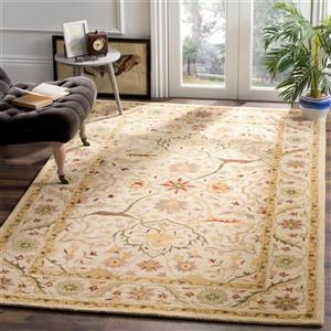 Antiquity Floral Rug - 8.3' x 11' - Wool - Ivory
