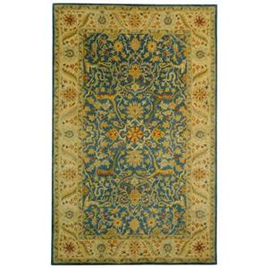 Antiquity Floral Rug - 8.3' x 11' - Wool - Blue