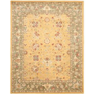 Antiquity Floral Rug - 8.3' x 11' - Wool - Gold