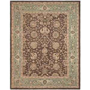 Antiquity Floral Rug - 8.3' x 11' - Wool - Brown/Green