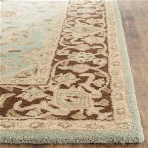 Antiquity Floral Rug - 8.3' x 11' - Wool - Green/Brown