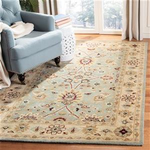Antiquity Floral Rug - 8.3' x 11' - Wool - Light Blue/Ivory