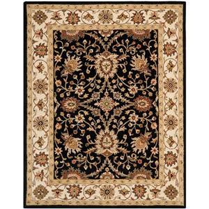 Antiquity Floral Rug - 8.3' x 11' - Wool - Black