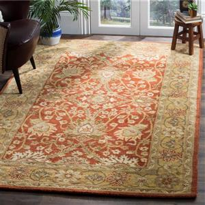 Antiquity Floral Rug - 8.3' x 11' - Wool - Rust/Gold