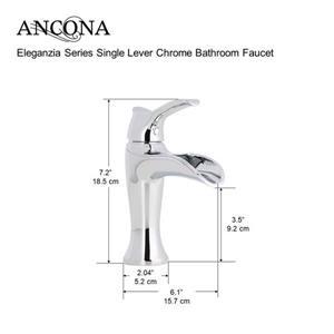 """Ancona Eleganzia Series Single Lever Bathroom Faucet -Chrome - 7"""""""