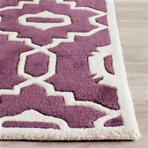 Chatham Geometric Rug - 3' x 5' - Purple/Ivory
