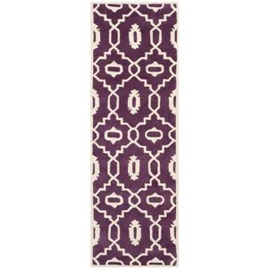 "Chatham Geometric Rug - 2' 3"" x 7' - Purple/Ivory"