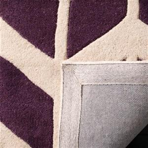 Chatham Geometric Rug - 3' x 5' - Purple/Ivory