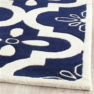 Chatham Floral Rug - 3' x 5' - Blue/Ivory
