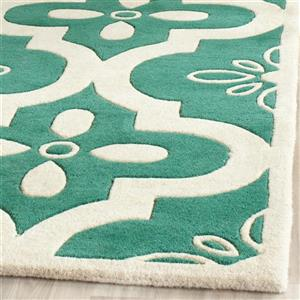 Chatham Floral Rug - 3' x 5' - Teal/Ivory