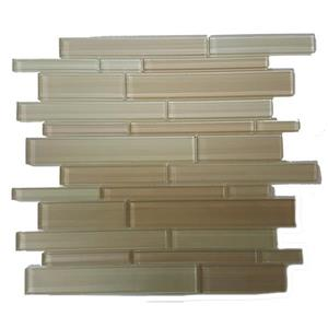 Mono Serra Group Glass Mosaic 12'' x 12'' Skyline - Beige - 5 sq.ft./case