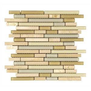 Mono Serra Group Glass Mosaic Crema Marfil - 12'' x 12'' - 5 sq.ft. /Case