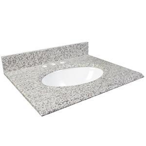 """Foremost Granite Counter Top - 37"""" x 22"""" - White Ash"""