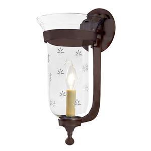 JVI Designs Star Bell Jar Wall Light - Bronze - 15-in x 7-in