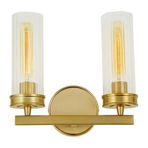 JVI Designs Hamilton two light wall sconce - Brass - 11.7-in