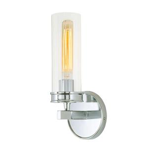 JVI Designs Hamilton one light wall sconce - Chrome - 13-in