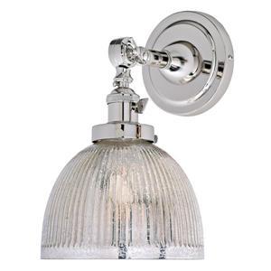 JVI Designs One light swivel mercury Madison wall sconce -Nickel - 11.5-in