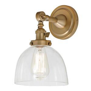 JVI Designs Soho one light swivel Madison wall sconce Satin brass 11.5-in