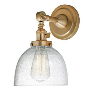 JVI Designs Soho one light swivel clear bubble Madison wall sconce Brass