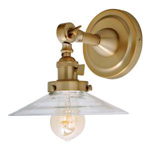 JVI Designs Soho one light swivel Ashbury wall sconce - Brass - 8.5-in x  8-in