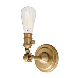JVI Designs Soho one light swivel wall sconce - Brass - 7-in