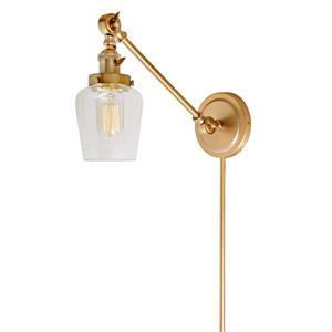 JVI Designs Soho one light double swivel Liberty wall sconce - Brass