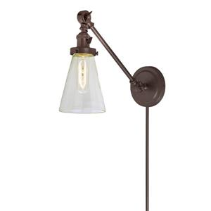 JVI Designs Soho one light  double swivel Barclay wall sconce - Bronze