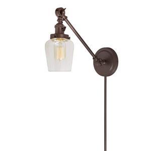 JVI Designs Soho one light double swivel Liberty wall sconce - Bronze
