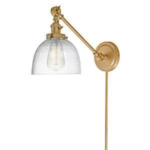 JVI Designs Soho one light double swivel bubble Madison sconce - Brass
