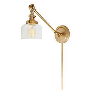 JVI Designs One light  double swivel Shyra wall sconce - Brass - 21-in x 5-in