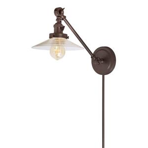JVI Designs One light double swivel Ashbury wall sconce - Bronze- 19-in x 8-in