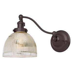 JVI Designs One light half swing mercury Madison  wall sconce - Bronze