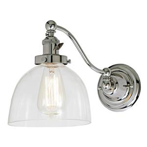 JVI Designs One light half swing Madison wall sconce Clear glass/Chrome