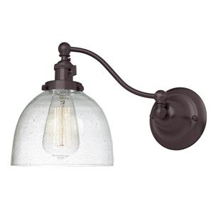 JVI Designs One light half swing clear bubble Madison wall sconce Bronze