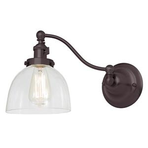 JVI Designs One light half swing clear Madison wall sconce - Bronze