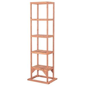 Leisure Season Tower Plant Stand - 20-in x 63-in - Wood - Brown