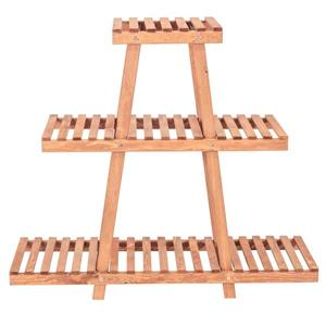 Leisure Season 3-Tier Plant Stand - 35-in x 32-in - Wood - Brown
