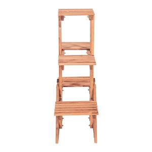 Leisure Season 3-Tier Plant Stand - 34-in x 34-in - Wood - Brown