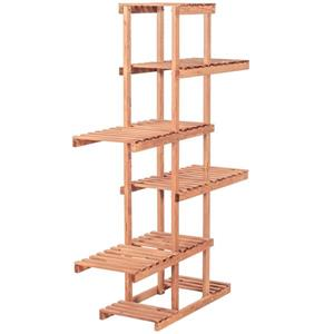 Leisure Season 5-Tier Plant Stand - 38-in x 51-in - Wood - Brown