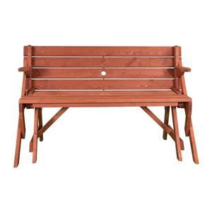 Leisure Season Convertible Picnic Table Bench 58 In X