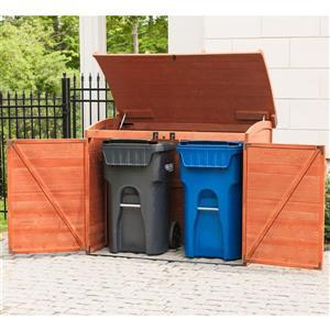 Leisure Season Refuse Storage Shed - 62'' x 48'' - Cedar - Brown