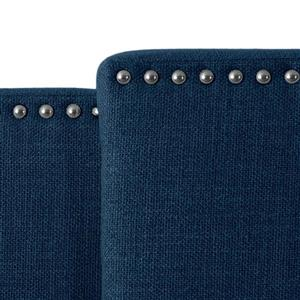 "CorLiving Expandable Panel Headboard - Navy Blue Fabric - 58"" à 80"""