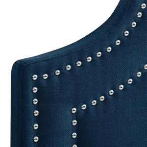 CorLiving Headboard with Button Tufting - Navy Blue -King