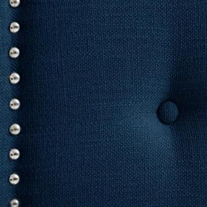 CorLiving Headboard with Button Tufting - Navy Blue -Queen