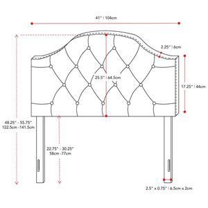 CorLiving Tufted Fabric Panel Headboard -Dark Grey -Single