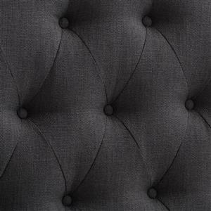 CorLiving Tufted Fabric Panel Headboard - Dark Grey - Queen